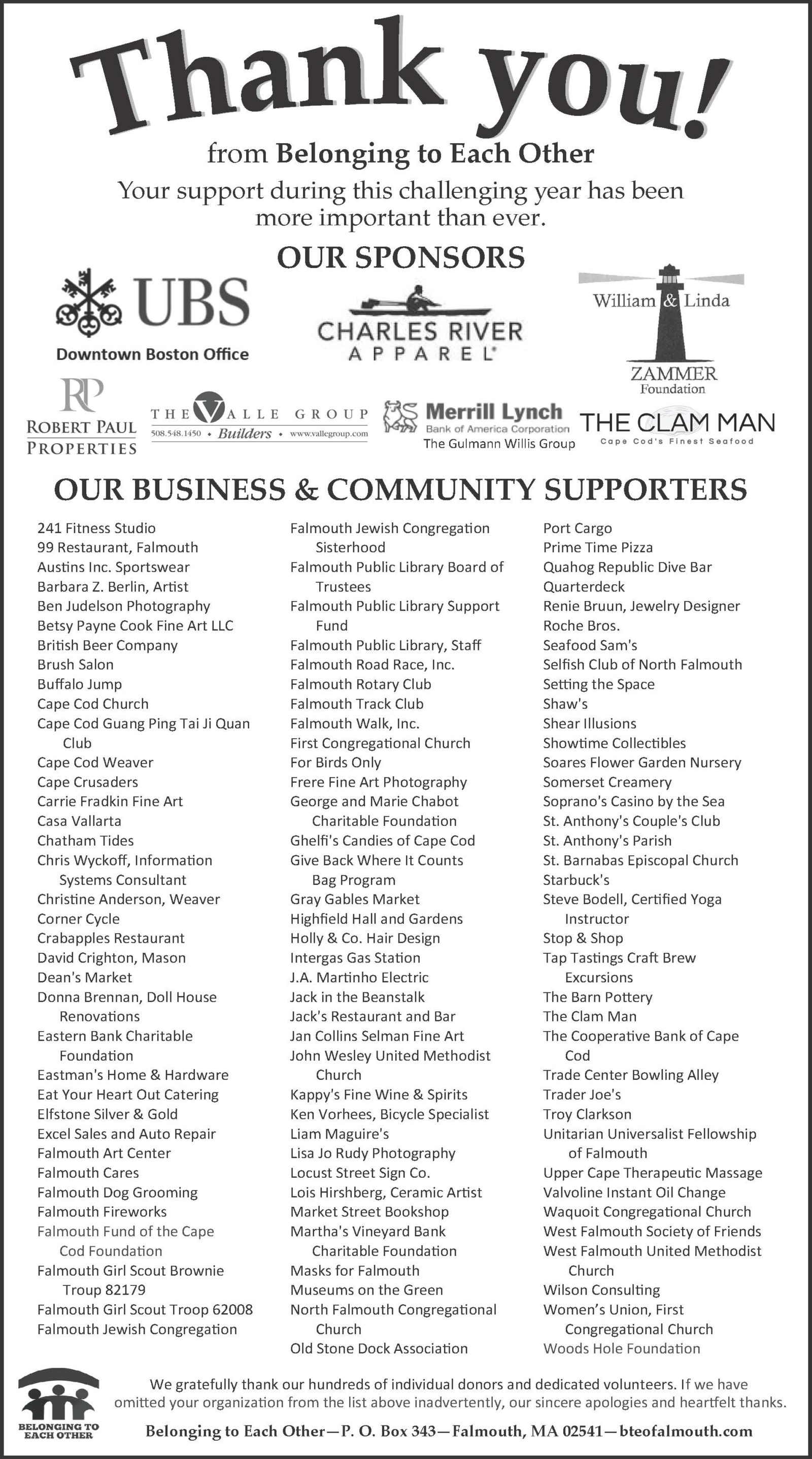 BTEO Thank You Ad in Enterprise - Dec 2020